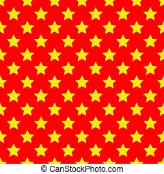 Seamless yellow star on red