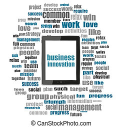 business innovation Text.