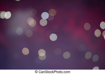 Vinous bokeh background created by electic color lights
