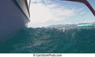 Moving boat - Gili Meno island, Lombok, Indonesia