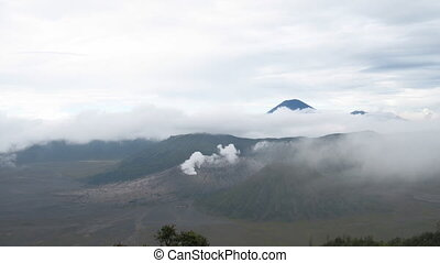 Indonesian volcanos lanscape - Bromo, Batok and Semeru...