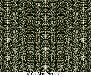 Vintage green wallpaper.