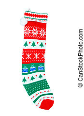 Christmas stocking isolated over white background