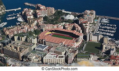 Aerial View Of The Different Districts Of Monaco - Aerial...