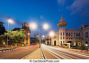Railway station in Kuala Lumpur