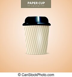 A coffee cup vector illustration with the words coffee to...