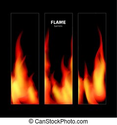 Abstract background with fire flames frame and copy space for text. Vector illustration.
