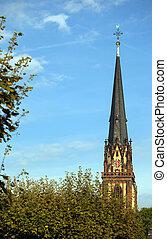 costruzione, religione, concetto, Cristo, chiesa