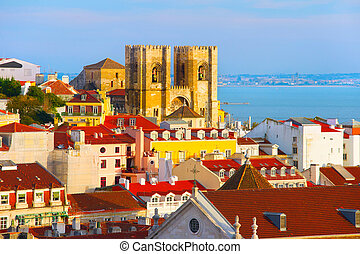 Santa Maria cathedral. Lisbon, Portugal