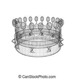 Crown. 3D illustration