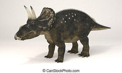 Diceratops-Dinosaur - 3D Computer rendering illustration of...