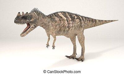 Ceratosaurus-Dinosaur - 3D Computer rendering illustration...