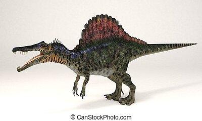 Spinosaurus-Dinosaur - 3D Computer rendering illustration of...