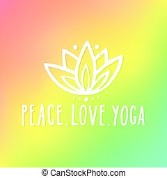 Peace love and yoga. Vector hand drawn lettering...