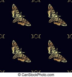 ?????? - Butterfly Deaths head hawk moth. The symbol of the...