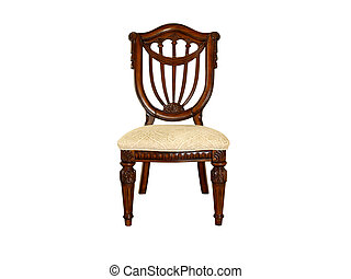 wooden ornate chair