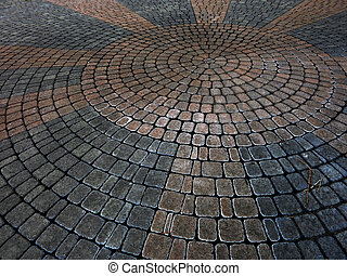 Cobble Stones Placer Rocks Pattern Sidewalk Patio - Cobble...