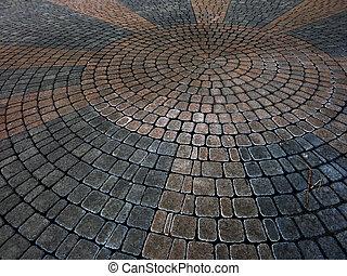 Cobble Stones Placer Rocks Pattern Sidewalk Patio - Cobble...