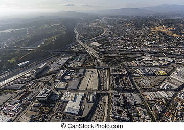 Golden State 5 Freeway Los Angeles Aerial