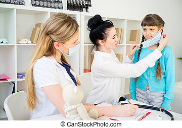 Family doctor with patient