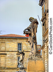 Statues at the University of Bordeaux, France
