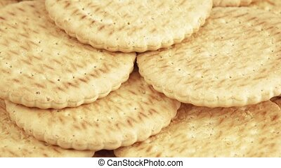 Stack of lean cookies - Rotating multi-storey stack of lean...