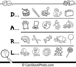 find picture for coloring - Cartoon Illustration of Finding...