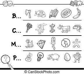 find picture coloring book - Cartoon Illustration of Finding...