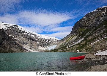 Nigardsbreen glacier, Norway - Nigardsbreen glacier near...