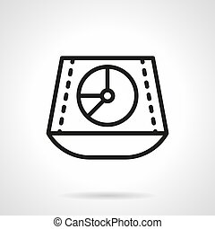 Sound mixer simple line vector icon - Abstract symbol of...
