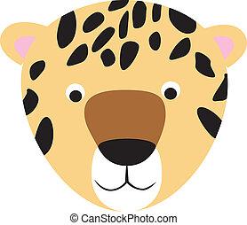 leopard or cheetah cartoon face