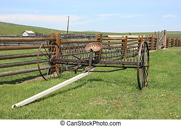Old Farm Equipment - Old farm equipment in Alberta, Canada.