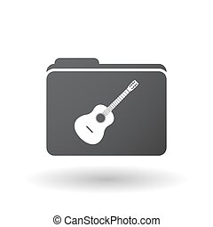 Isolated folder signal with a six string acoustic guitar -...