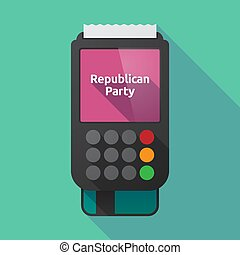 Long shadow dataphone with the text Republican Party -...