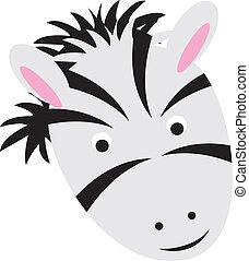 cartoon zebra face