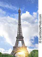 Eiffel tower, Paris. France - View of the Eiffel Tower and...