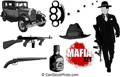 Small set of mobsters - A small set of gangster accessories...