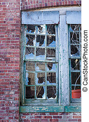 Broken Windows at Sandy Hook - Details of the broken windows...
