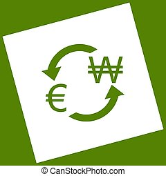 Currency exchange sign.