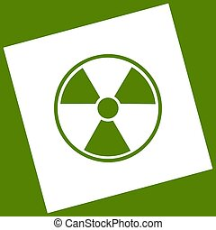Radiation Round sign. Vector. White icon obtained as a...