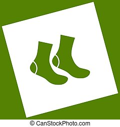 Socks sign. Vector. White icon obtained as a result of...