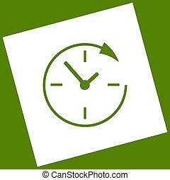 24,  obtained, clientes, cuadrado, alrededor, servicio, reloj, aguacate, Apoyo, girado, Plano de fondo, resultado,  vector, horas, blanco, icono, Trayectoria, substracción