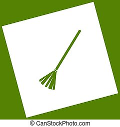 Sweeping broom sign. Vector.
