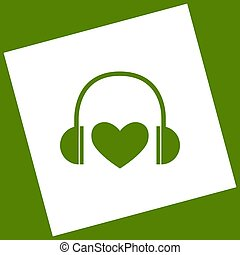 Headphones with heart.