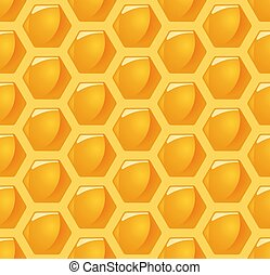 seamless honey comb background - vector illustration of an...