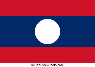 Flag of Laos.