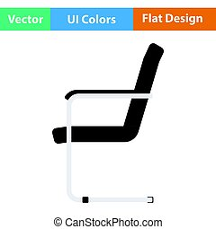 Guest office chair icon. Flat design. Vector illustration.