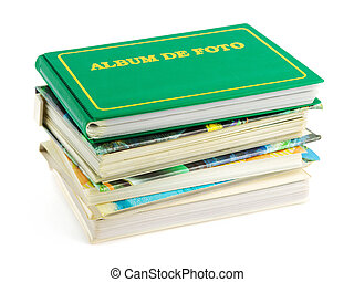 Stack of photo albums