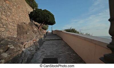 City Sperlonga italy - City Sperlonga Italy June. Walk along...