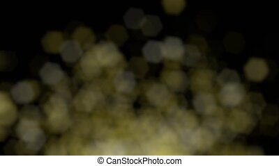 Defocused lights rising into the darkness. Loopable 4k...